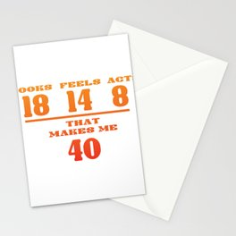 40th Birthday Forty Years Wit Gift Stationery Cards
