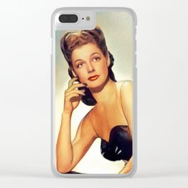 Ann Sheridan, Vintage Actress Clear iPhone Case