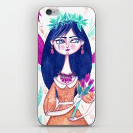 Miss Tulip iPhone Skin