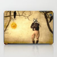 pilot iPad Cases featuring The Pilot by The Strange Days Of Gothicrow