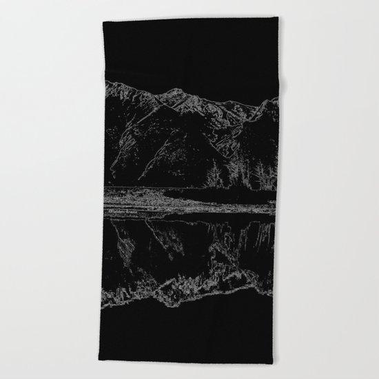 Knik River Mts. Pop Art - 4 Beach Towel