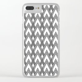 Minimal pattern Clear iPhone Case