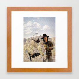 The Unknown Rider in The Cherokee Trail Framed Art Print