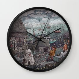 Home for the Harbor Wall Clock