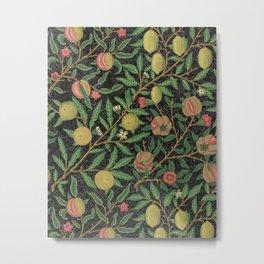 William Morris Fruit Print with Pomegranates and Lemons, 1862 Metal Print