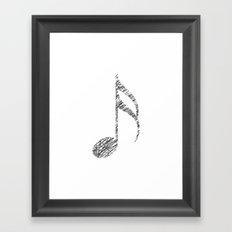 Scribble music note Framed Art Print