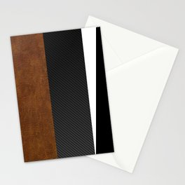 Carbon Leather Mix Stationery Cards