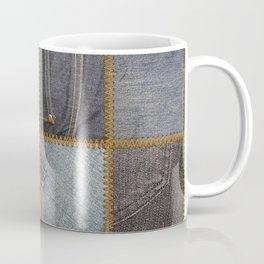Denim Patchwork Coffee Mug