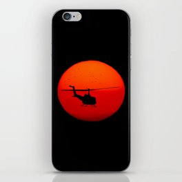 Vietnam Helicopter Sunset iPhone Skin