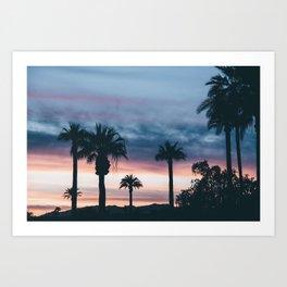 Palm Tree Sky Sunset Art Print
