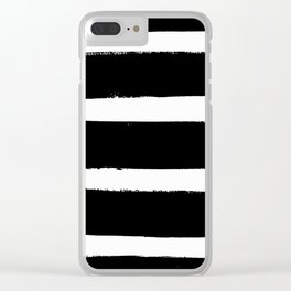 Black & White Paint Stripes by Friztin Clear iPhone Case