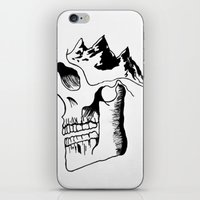 three of the possessed iPhone & iPod Skins featuring Possessed by the Mountains by Le Bureau Noir Studio