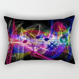 Colorful musical notes and scales artwork Rectangular Pillow