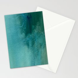 Forest green teal hand painted watercolor ombre Stationery Cards