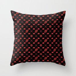 DP pattern Throw Pillow
