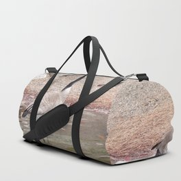 Majestic Fellow, Beautiful Canadian Goose On Pond,Wildlife Duffle Bag