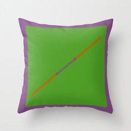 Cowabunga (Donatello Version) Throw Pillow