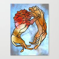 lions Canvas Prints featuring Lions by madbiffymorghulis