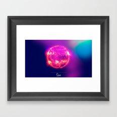 Cosmos Sun Framed Art Print