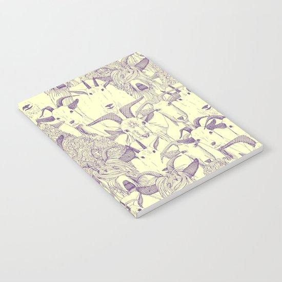 just goats purple cream Notebook