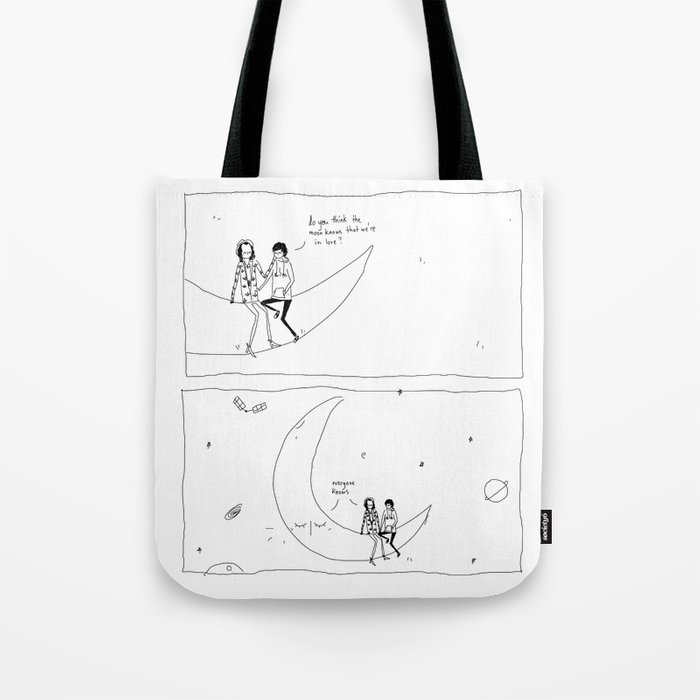 the moon knows Tote Bag