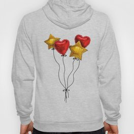 Floating hearts and stars Hoody