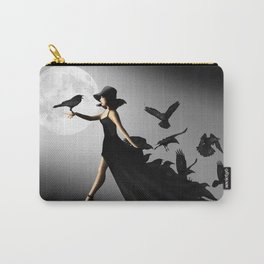 The woman with the ravens Carry-All Pouch