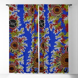 Authentic Aboriginal Art - Waterholes Corela Blackout Curtain