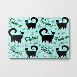 Fabulous Felines Metal Print