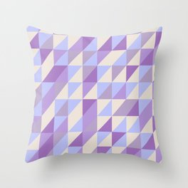 Purple n Hashed Throw Pillow