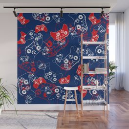 Video Game Red White & Blue 2 Wall Mural