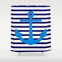 sail Shower Curtains featuring Sail by M Studio