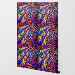 dancing garden in multicolor Wallpaper
