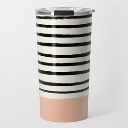 Peach x Stripes Travel Mug