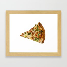 Spicy Pizza Slice Framed Art Print