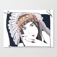 headdress Canvas Prints featuring Headdress by Footeprints