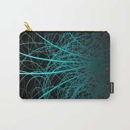 Linear Abstract2 - Blue Carry-All Pouch