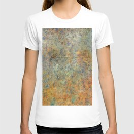 Blue and Copper Abstract T-shirt