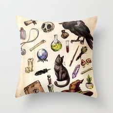 Witching Essentials Throw Pillow
