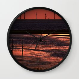 River Alt and the wind farm Wall Clock