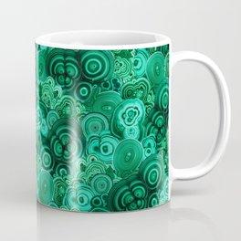 Malachite Swirls in Emerald Garden Coffee Mug
