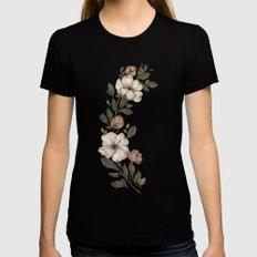 Floral Laurel MEDIUM Womens Fitted Tee Black