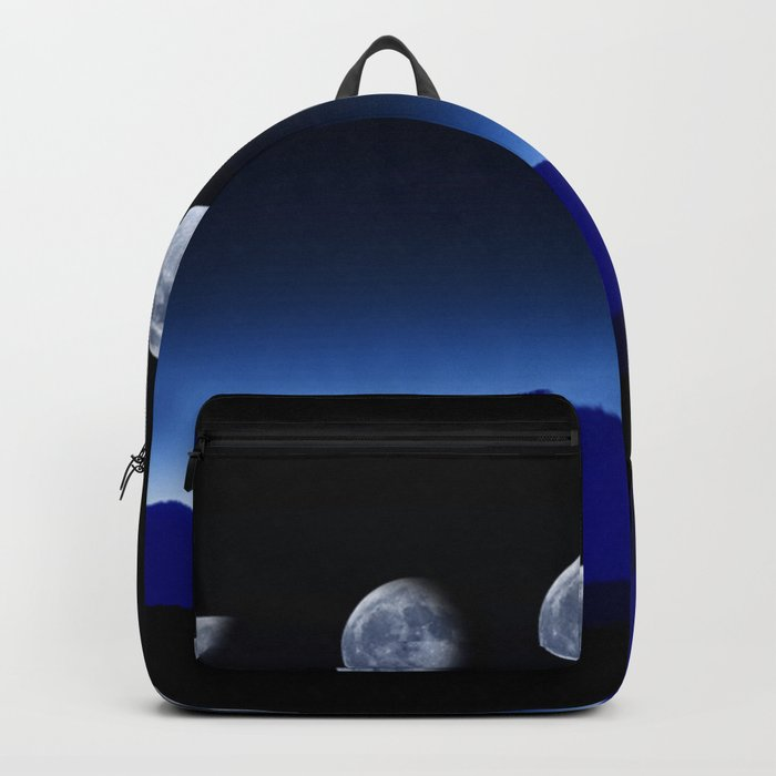Moon Phases #blue Backpack