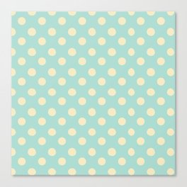 Dotted - Soft Blue Canvas Print