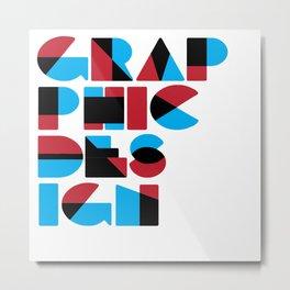 Graphic Design (Overprint Series) Metal Print