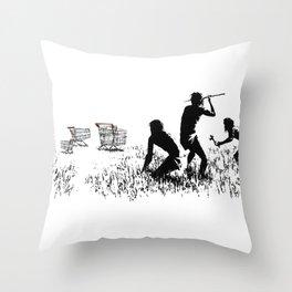 Banksy Trolleys Men Hunting Supermarket Carts Artwork Reproduction for Prints Posters Tshirts Throw Pillow