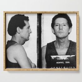 Jerry Lee Lewis Mug Shot Horizontal Mugshot Serving Tray