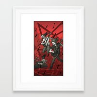 metal Framed Art Prints featuring Metal by Rodrigo Avilés
