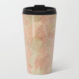 Vintage silk cotton leaves texture decoupage Travel Mug