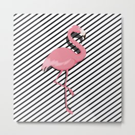 Cute Flamingo Metal Print